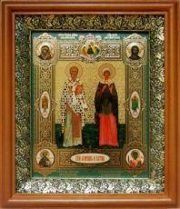 Киприан и Иустина (19х22), светлый киот