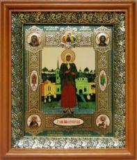 Ксения Петербургская (19х22), светлый киот