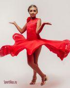 Платье для танцев красного цвета