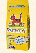 """Pretty Cat """"Cупер белый"""" Комкующийся наполнитель (10 кг)"""