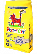 """Pretty Cat """"Супер Белый"""" Комкующийся наполнитель с ароматом горной лаванды (20 кг)"""