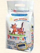 Pretty Cat Для котяток Древесный впитывающий наполнитель (12 л)