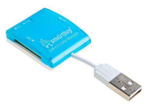 Картридер Smartbuy SBR-713 (голубой)