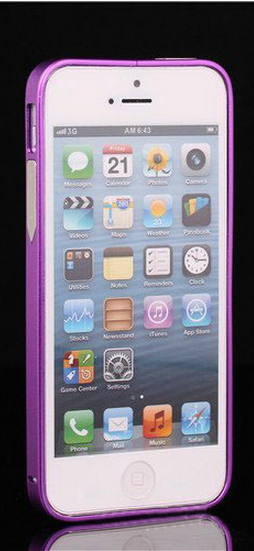 Алюминиевый бампер на iphone 5/5s (фиолетовый)