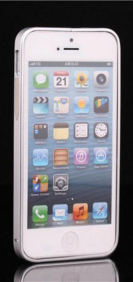 Алюминиевый бампер на iphone 5/5s (серебряный)