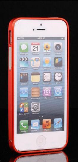 Алюминиевый бампер на iphone 5/5s (красный)