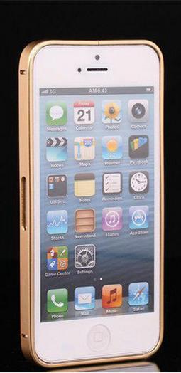 Алюминиевый бампер на iphone 5/5s (золотой)