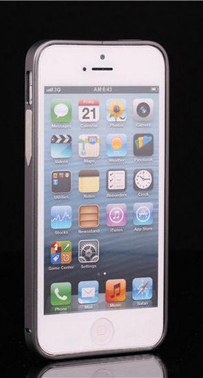 Алюминиевый бампер на iphone 5/5s (серый)
