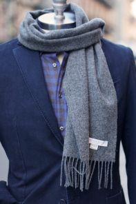 шарф 100% шерсть ягнёнка , расцветка Серый, Тёмный тон ,плотность 6