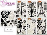 """Наклейки интерьерные """"Черно-белые"""", 32х56 см, 6 дизайнов в ассортименте (арт. Tz-15205)"""
