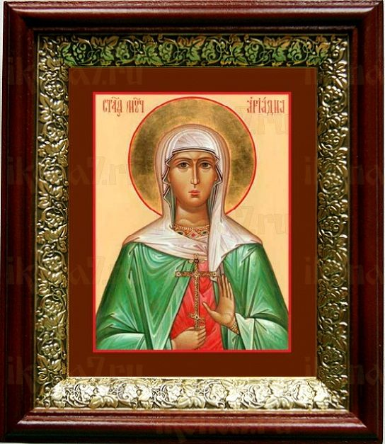 Ариадна Промисская (19х22), темный киот