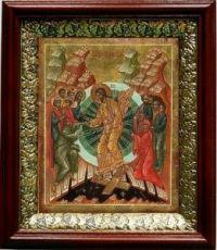 Воскресение Христово (19х22), темный киот