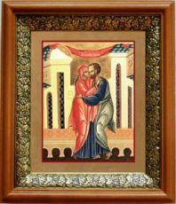 Иоаким и Анна (19х22), светлый киот