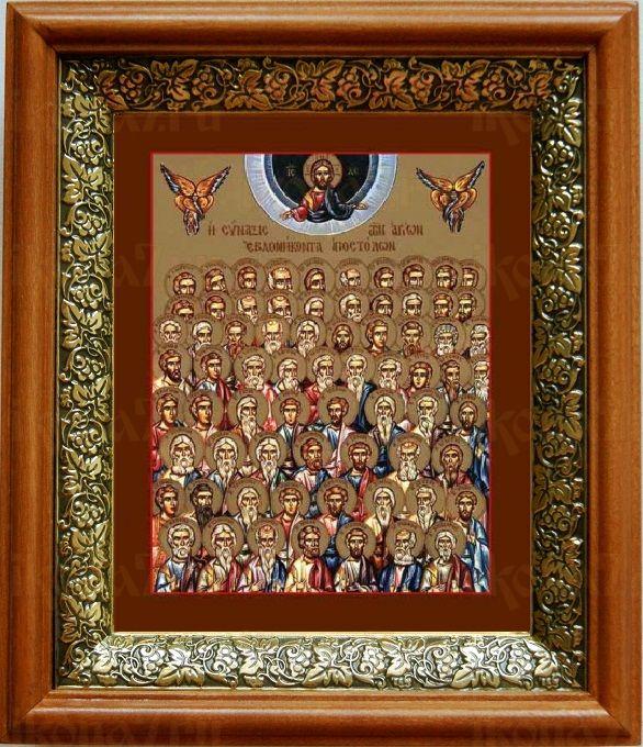 Собор 70-ти Апостолов (19х22), светлый киот