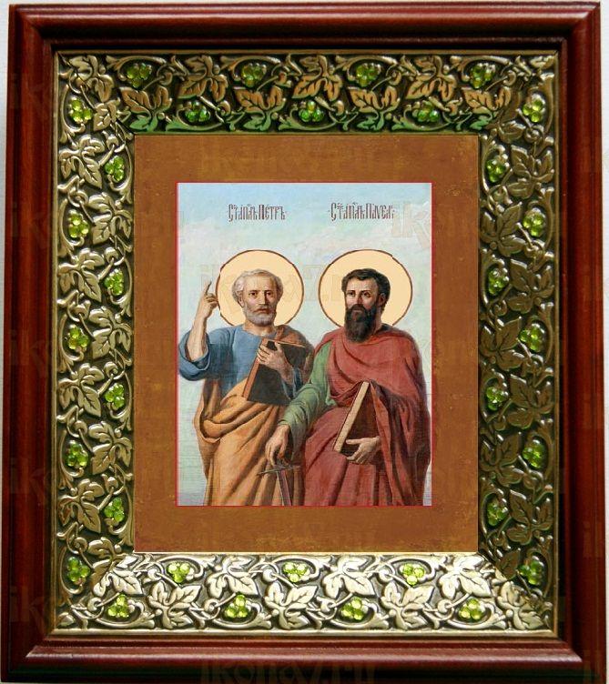 Петр и Павел (21х24), киот со стразами