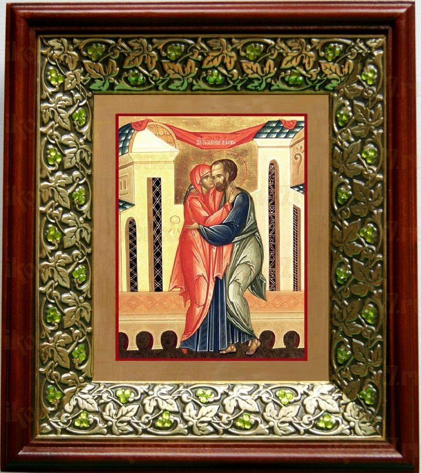 Иоаким и Анна (21х24), киот со стразами