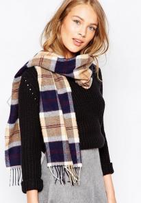 шарф 100% шерсть ягнёнка , расцветка Баннокбейн Navy Bannockbane, плотность 6