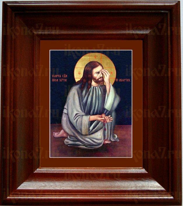Плач Христа об убиенных младенцах (21х24), простой киот
