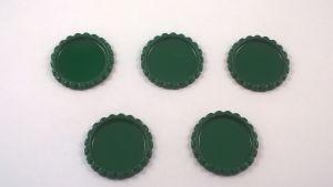 Крышка. Материал - металл. Внутренний диаметр 25 мм, наружный - 31 мм, цвет №27 . (1 уп. = 24 шт)
