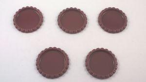 Крышка. Материал - металл. Внутренний диаметр 25 мм, наружный - 31 мм, цвет №33 . (1 уп. = 24 шт)