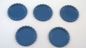 Крышка, Материал металл, Внутренний диаметр 25 мм, наружный 31 мм, цвет №21 (1 уп. = 24 шт)