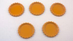 Крышка, Материал металл, Внутренний диаметр 25 мм, наружный 31 мм, цвет №13 (1 уп. = 24 шт)