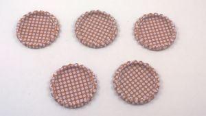 Крышка, Материал металл, Внутренний диаметр 25 мм, наружный 31 мм, цвет №22 (1 уп. = 24 шт)