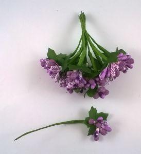 `Тычинки в связках перламутровые,цвет - фиолетовый, (1 связка = 11-12 букетиков)