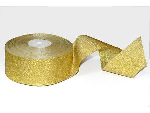 Лента металлизированная. Цвет золото 50 мм (Рулон 32 м)