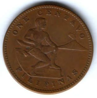1 сентаво 1917 г. AUNC Филиппины США