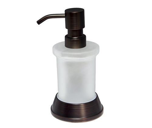 """WasserKRAFT  Isar K-2300 Дозатор для жидкого мыла, 170 ml покрытие """"темная бронза"""""""