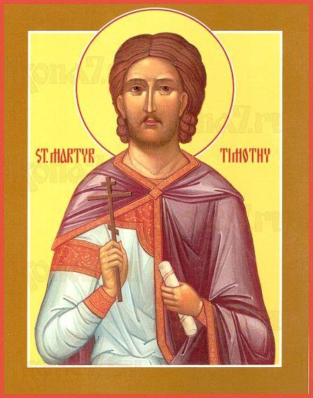 Тимофей Фиваидский (рукописная икона)
