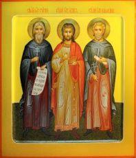 Икона Гурий, Самон и Авив (рукописная)