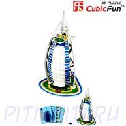 """CubicFun. 3D пазлы. Мини серия. Отель """"Бурж эль Араб"""""""