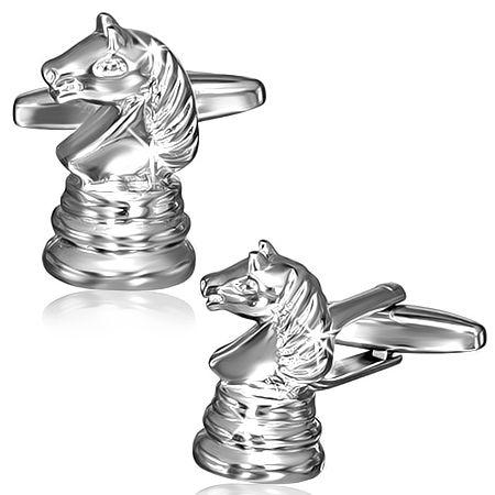 Запонки шахматный конь