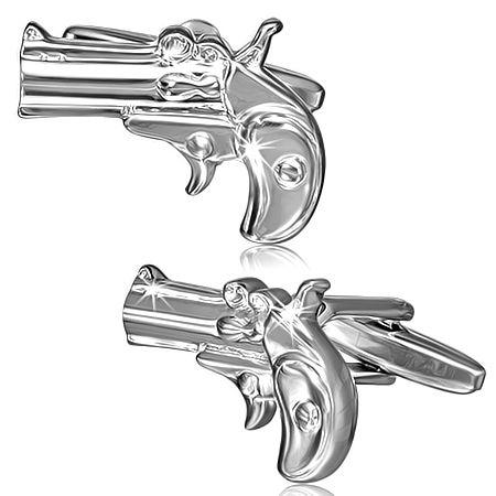 Запонки пистолет