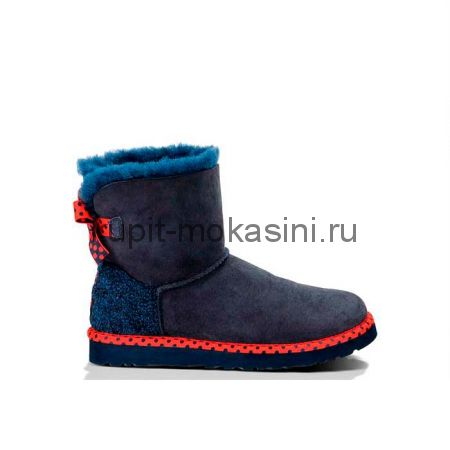 Mini Bailey Bow 78 Navy - Угги Мини 78 Синие