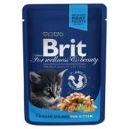 Brit Premium Chicken Chunks for Kitten Кусочки с курочкой для котят (100 г)