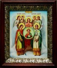 Собор архангела Михаила (19х22), темный киот