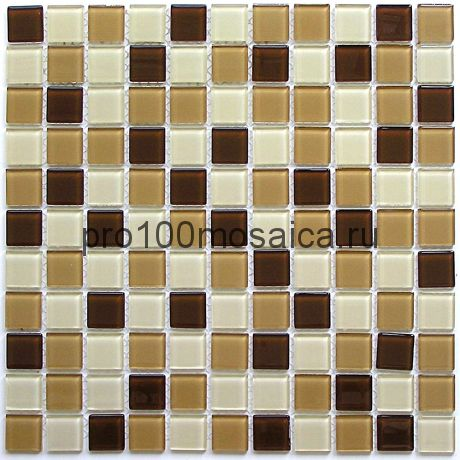 Latte mix стекло 25*25. Мозаика серия CRYSTAL, размер, мм: 300*300 (BONAPARTE)