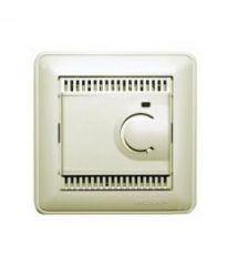 Терморегулятор теплого пола с датчиком в пол в сборе с рамкой (10А, шампань)
