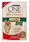 PURINA ONE Для маленьких собак с активным образом жизни Корм с говядиной, картофелем и морковью в подливе (100 г)