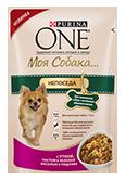 PURINA ONE Для маленьких собак с активным образом жизни Корм с уткой, пастой и зеленой фасолью в подливе (100 г)