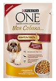PURINA ONE Для маленьких собак с хорошим аппетитом Корм с курицей, коричневым рисом и томатами в подливе (100 г)
