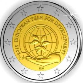 Европейский год развития 2 евро Бельгия 2015 BU