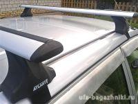 Багажник на крышу Hyundai i40, Атлант, крыловидные аэродуги, опора Е