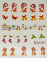 Водная наклейка для дизайна ногтей BJC - 027