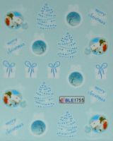 Водная наклейка для дизайна ногтей BLE-1755