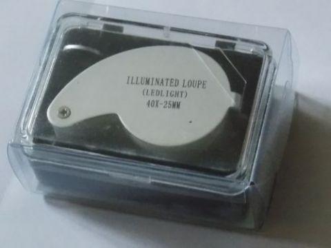 Лупа 40Х-25 с подсветкой.