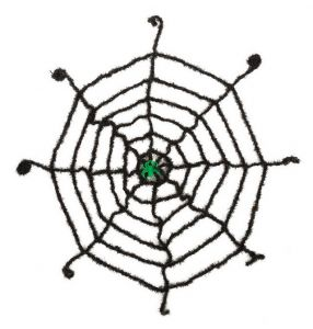 Паутина со светящимся пауком